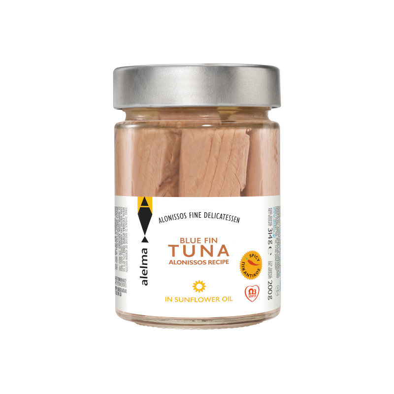 Blue fin spicy tuna Alonissos in sunflower oil 200g