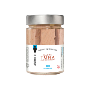 Blue fin tuna Alonissos in water 200g