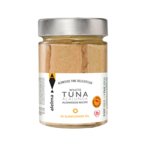 White spicy tuna Alalunga Alonissos in sunflower oil 200g